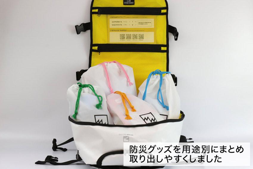 ミヤビワークス・オリジナル防災バッグ3WAY