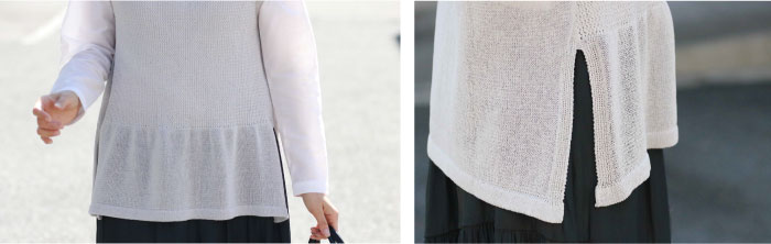 メッシュ編みベスト