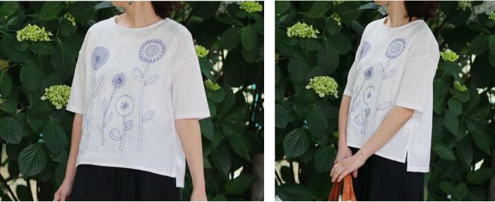 花畑刺繍プルオーバー