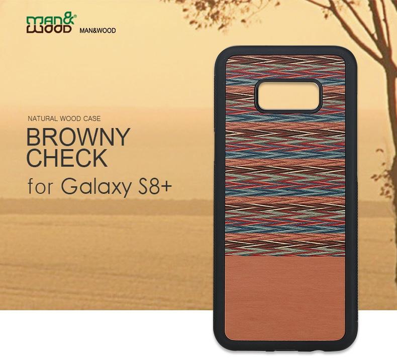 Galaxy S8+天然木ケース Browny Check