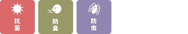 抗菌・防臭・防虫
