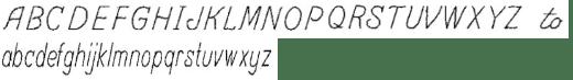 アルファベットの刻印イメージ