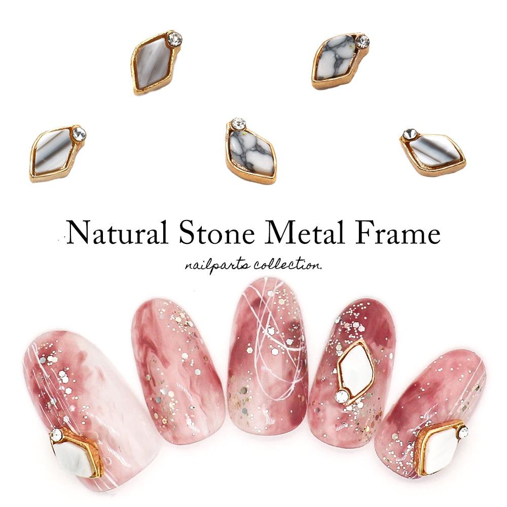 天然石メタルフレームパーツ
