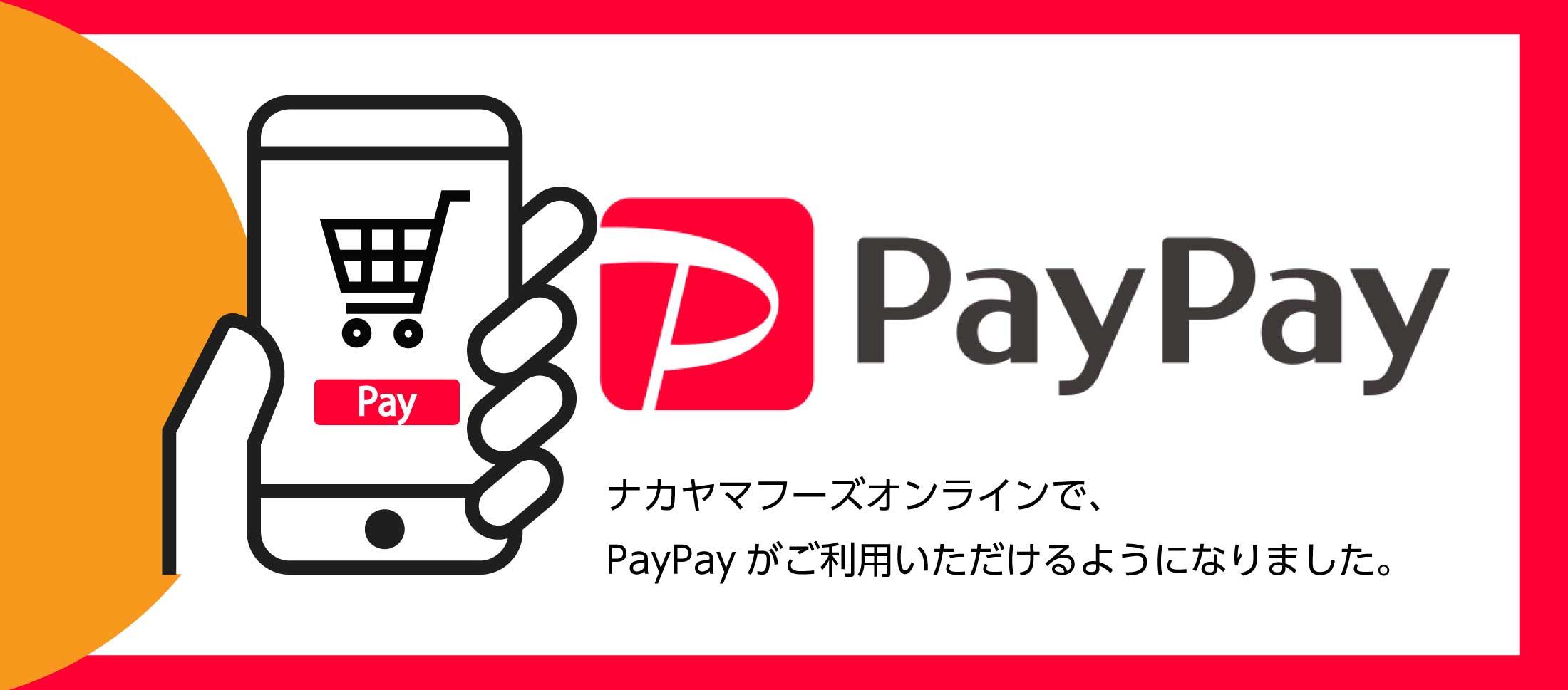 PayPay電子決済 ご利用 業務用食品・冷凍食品おすすめ 業務用食品・冷凍食品の通販 |ナカヤマフーズ