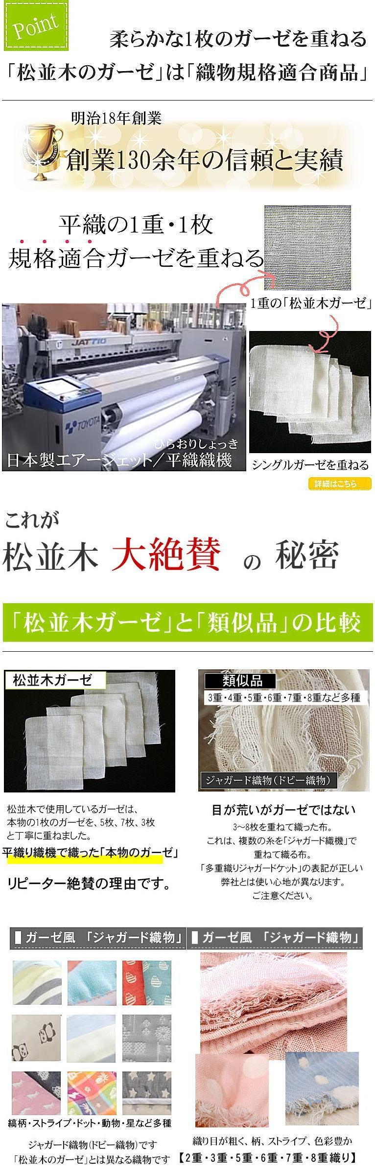 本物の ガーゼ 肌掛け 綿毛布 楽天1位 敏感肌にもやさしい 無添加ガーゼケット 松並木 日本製