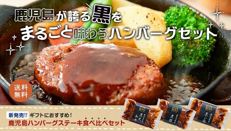 鹿児島が誇る黒をまるごと味わうハンバーグセット