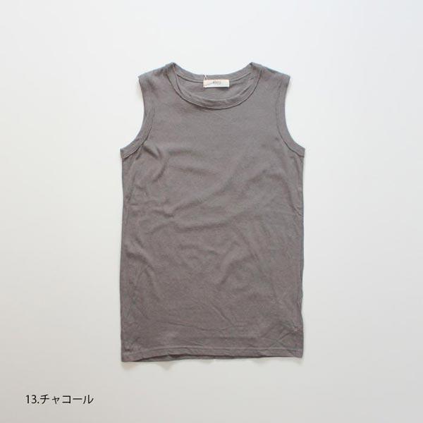 612002 NARU(ナル) ムラ糸リサイクル天竺ロングタンクトップ