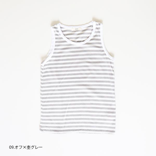 618011 NARU(ナル) 40/2天竺ボーダータンクトップ