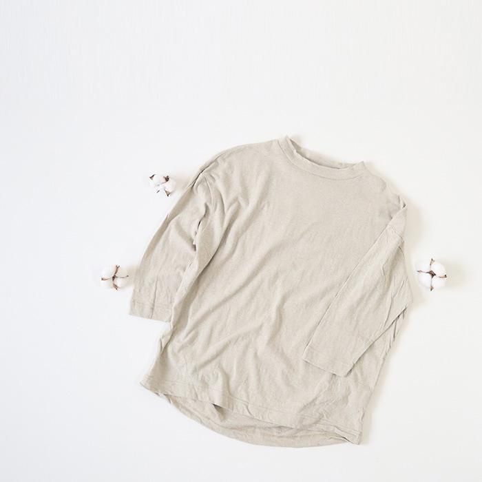 ムラ糸リサイクル天竺タックプルオーバー 636040