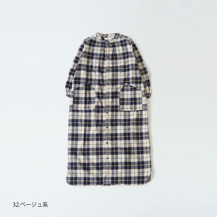 NARU(ナル) 20Sフランネル起毛チェックシャツワンピース 636806