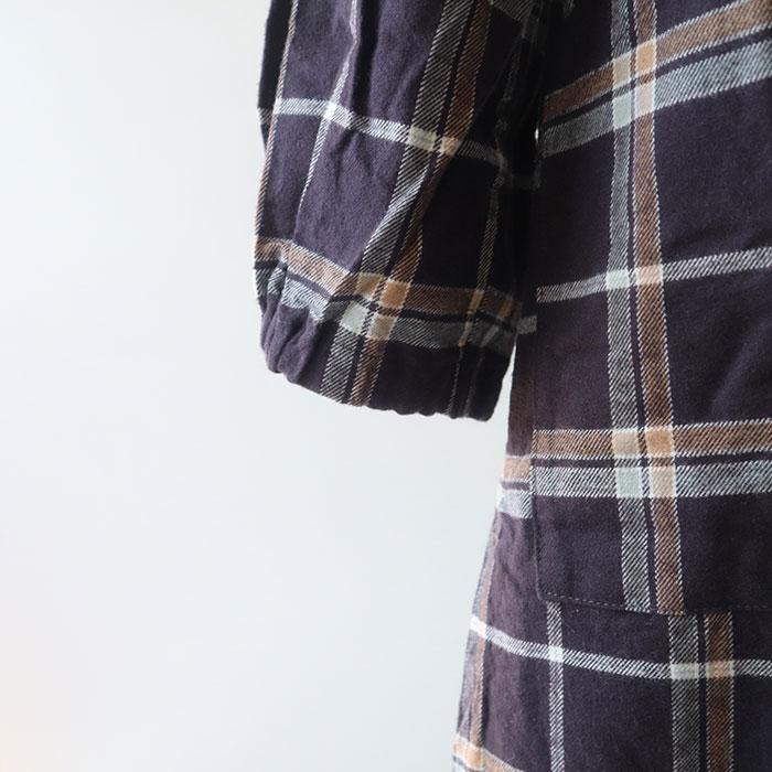 ーNARU(ナル) 20Sフランネル起毛チェックシャツワンピース 636806