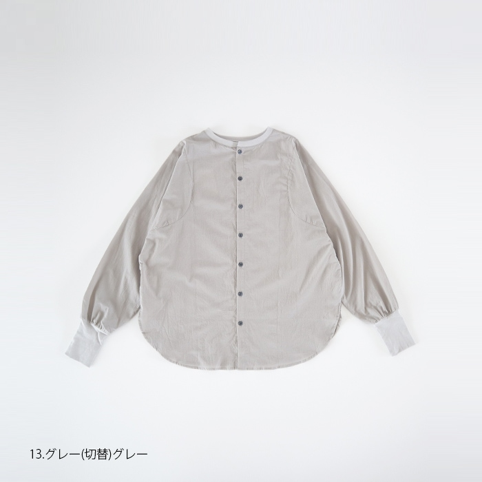 NARU(ナル) 60sローンふんわり×30ソフトフライス切替シャツ 638900