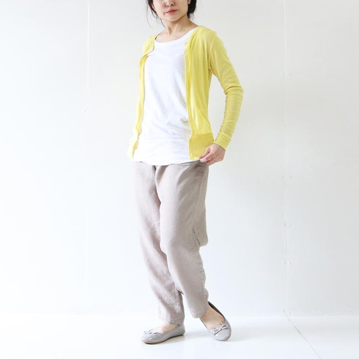 69811 NARU(ナル) 60/1ソフトフライス長袖カーディガン