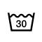 液温は、30℃を限度とし、洗濯機で  通常の洗濯処理ができる。