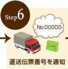 step6:運送伝票番号を通知