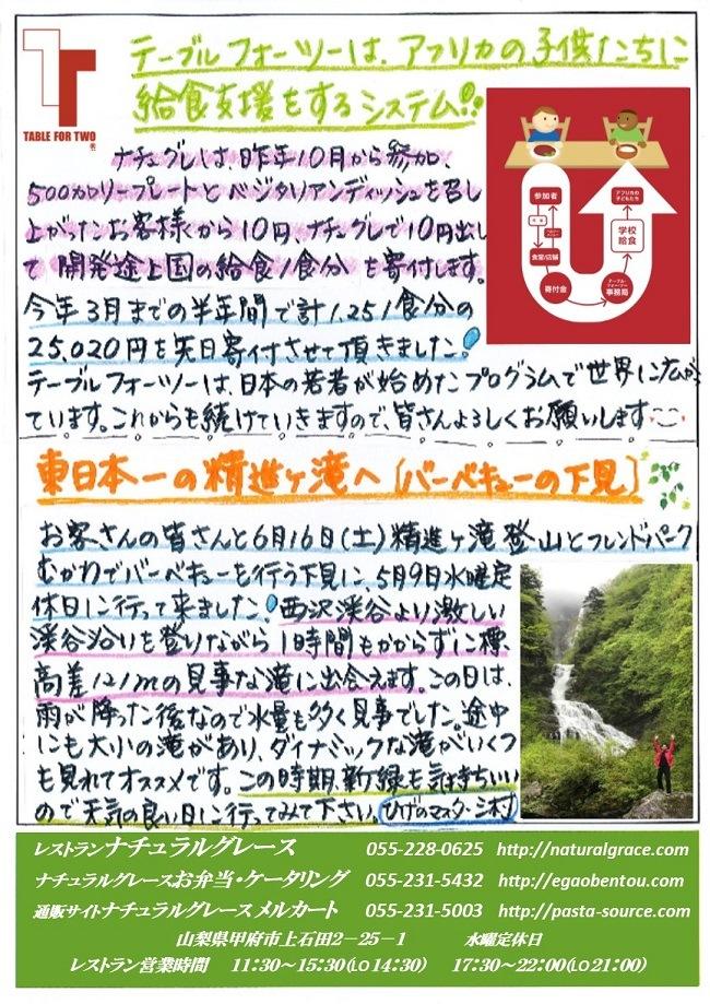 ナチュグレ通信6月号