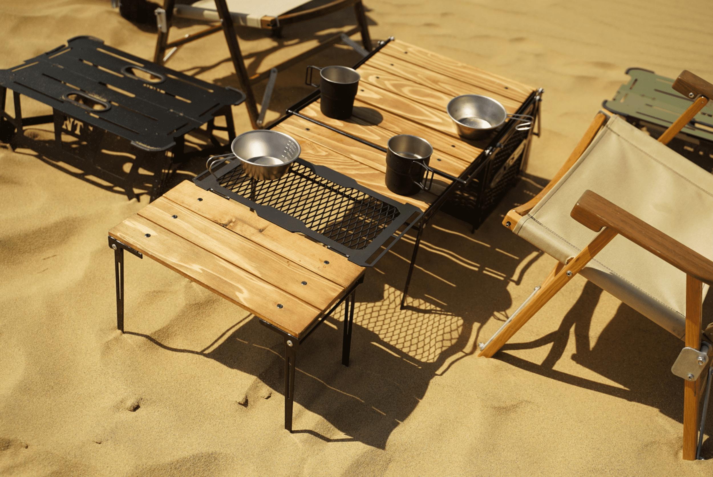 ビーチでデイキャンプ