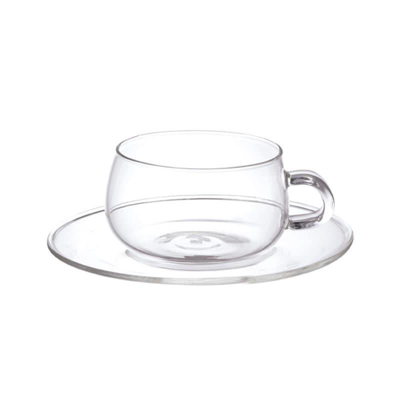 KINTO キントー UNITEA カップ&ソーサー 230ml ガラス  ティーカップ マグカップ 耐熱ガラス ガラス KINTO 北欧 食洗機 かわいい おしゃれ ギフト