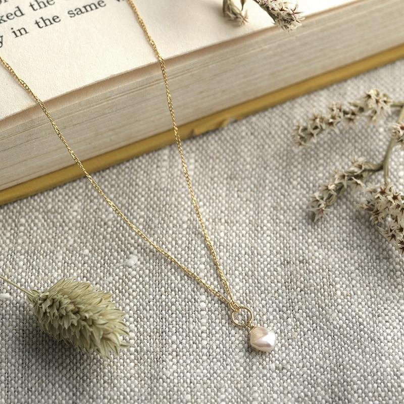 Natully ナチュリー ネックレス Poppy  レディース ケシパール ネックレス 淡水パール 日本製 真珠 上品 おしゃれ ギフト プレゼント