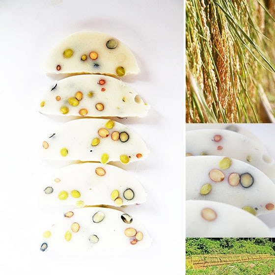 吉田自然農園の自然栽培「豆餅」は、無農薬・無肥料・天日干し