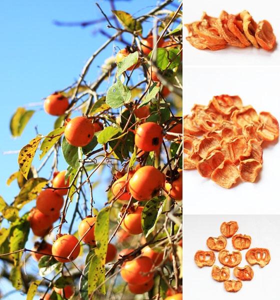 西日本産、無農薬・無肥料、自然栽培のスライス干し柿