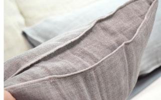 備長炭蚊帳生地枕カバー使用イメージ