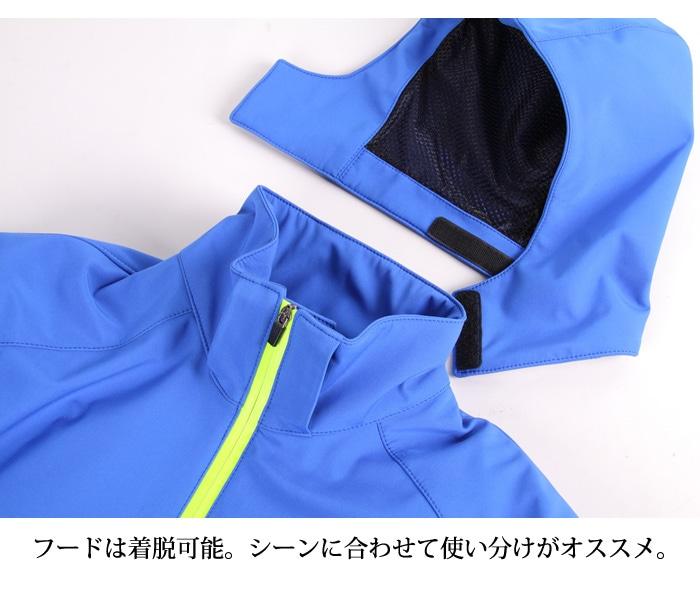 フード ソフト シェル ジャケット デグナー プロテクター CE レベル2 プロテクター ブラック レッド ブルー グレー 耐水圧