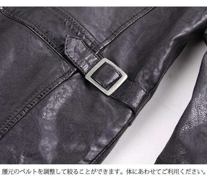腰のベルトは絞ることも可能。 DEGNER 17wj-5 レザージャケット
