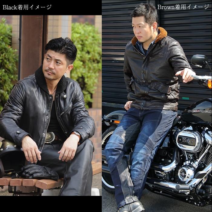 カラーはブラックとブラウン DEGNER 17wj-5 レザージャケット デッキジャケット