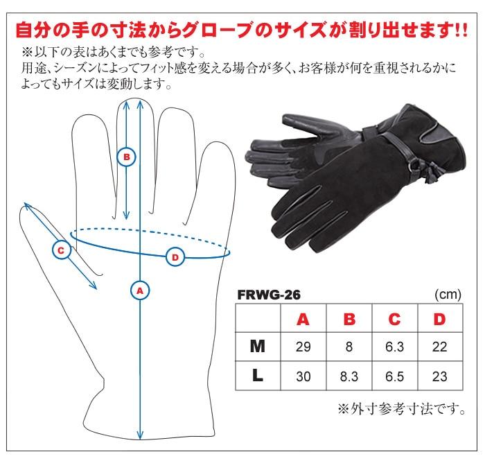 自分の手の寸法から、グローブのサイズが割り出せます。