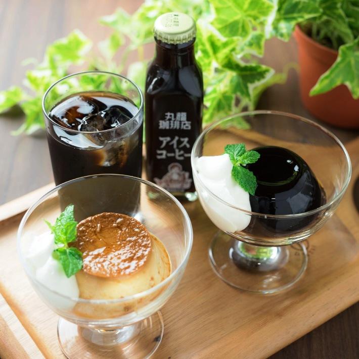 北海道産生クリームを使ったプリン&濃厚なアイスコーヒー&ひんやり美味しいコーヒーゼリー