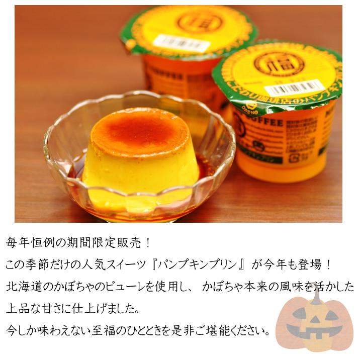 北海道産かぼちゃピューレを使用した丸福特製パンプキンプリン