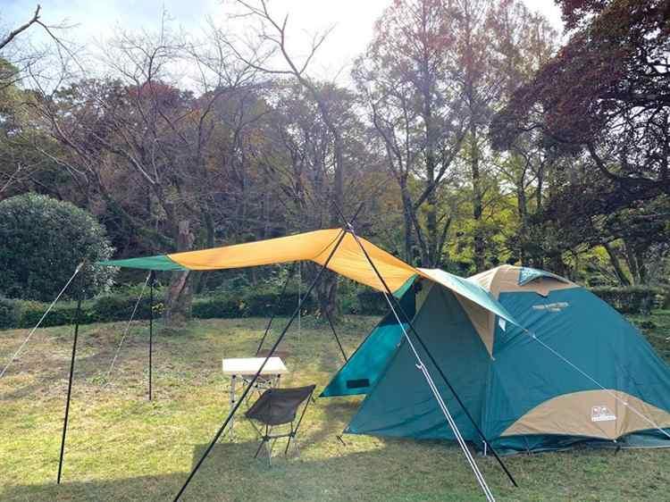 タープとテントを連結する