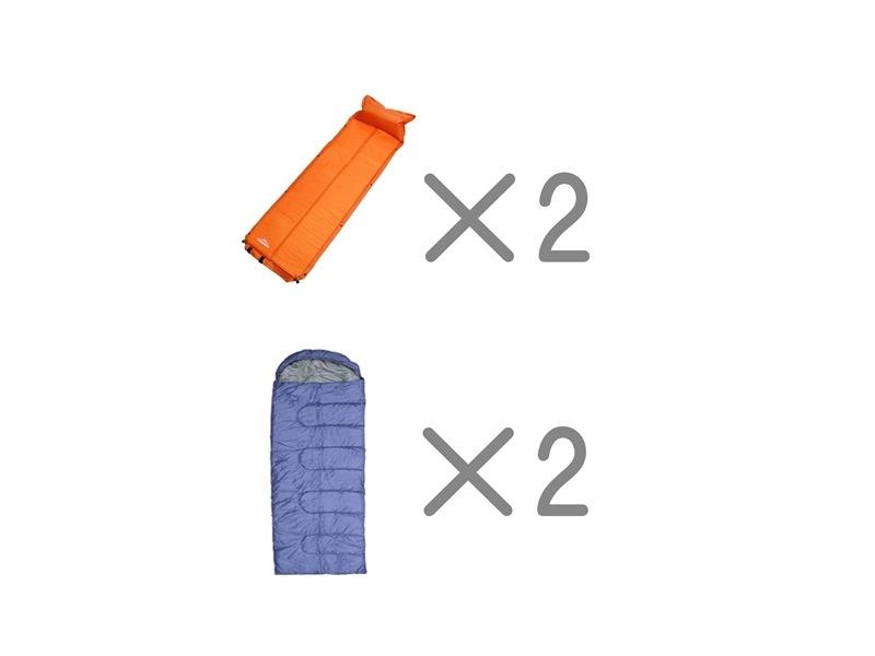 エアマット寝袋セット2名様用