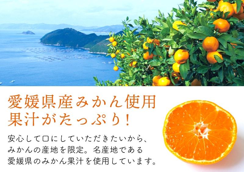 愛媛県産みかん使用果汁たっぷり!