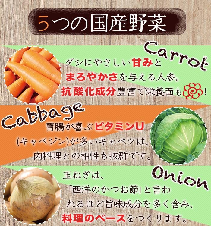 5つの国産野菜