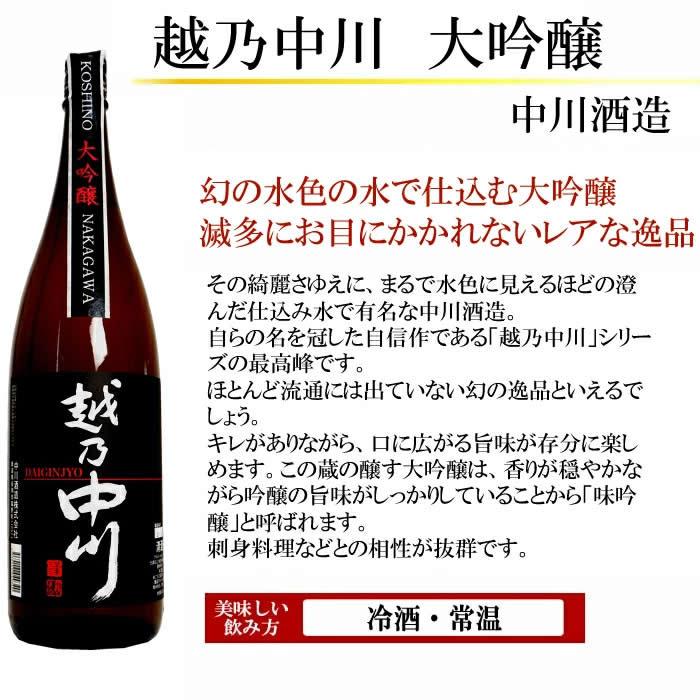 日本酒 越乃中川大吟醸