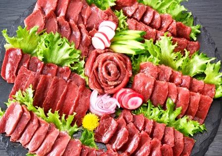 赤身7食セット皿盛画像