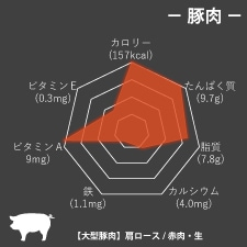 豚肉栄養成分グラフ