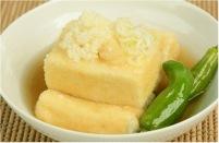 おからパウダー混ぜるだけ揚げ出し豆腐レシピ