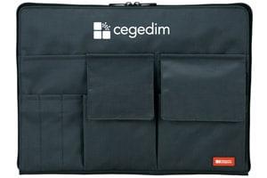 セジデム株式会社様A4バッグインバッグ黒