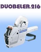 ハンドラベラー DUOBELER216 デュオベラー 2段型 2色印字 半糊ラベル