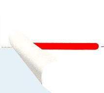 赤1本半のりミシン目