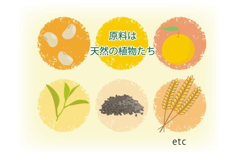 丹羽sod原料は天然の植物たち