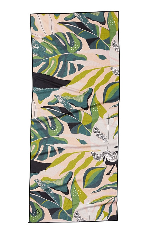 MONSTERA 66 GREEN PINK TOWEL