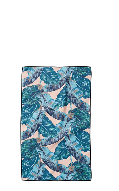 BANANA LEAF 14 TEAL HAND TOWEL