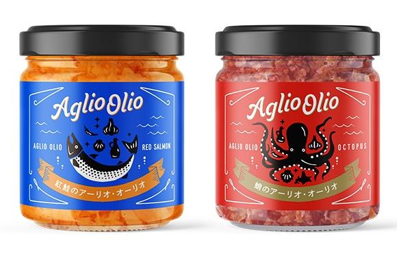 紅鮭アーリオオーリオと蛸のアーリオオーリオ