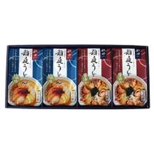 比内地鶏スープで食べる稲庭うどん2種8食詰め合わせ