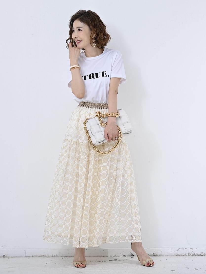 サークルオーガンジースカート