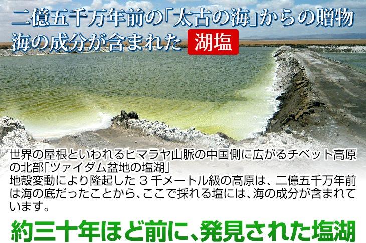 太古の海からの贈り物 海の成分が含まれた湖塩